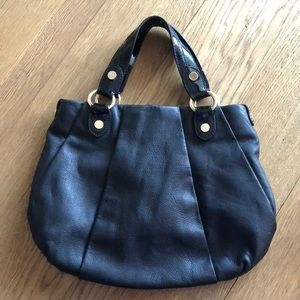 Simply Vera by Vera Wang black pebble leather